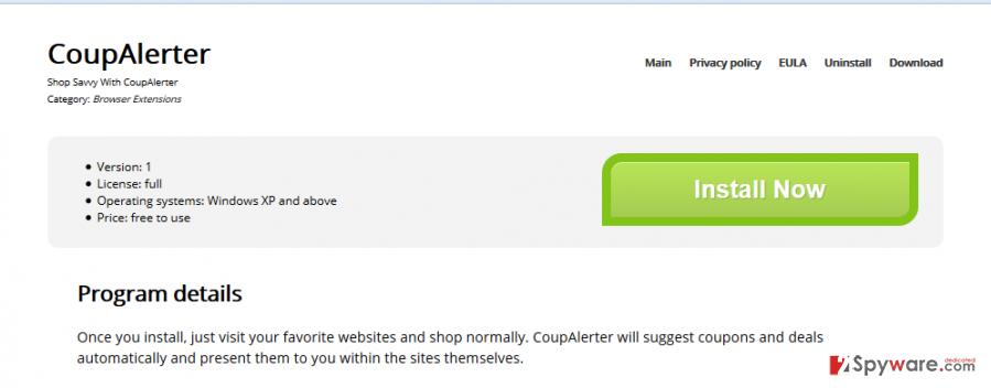 CoupAlerter ads snapshot