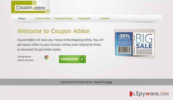 CouponAddon virus snapshot