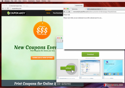 Ads by Coupon Ahoy virus (official page)