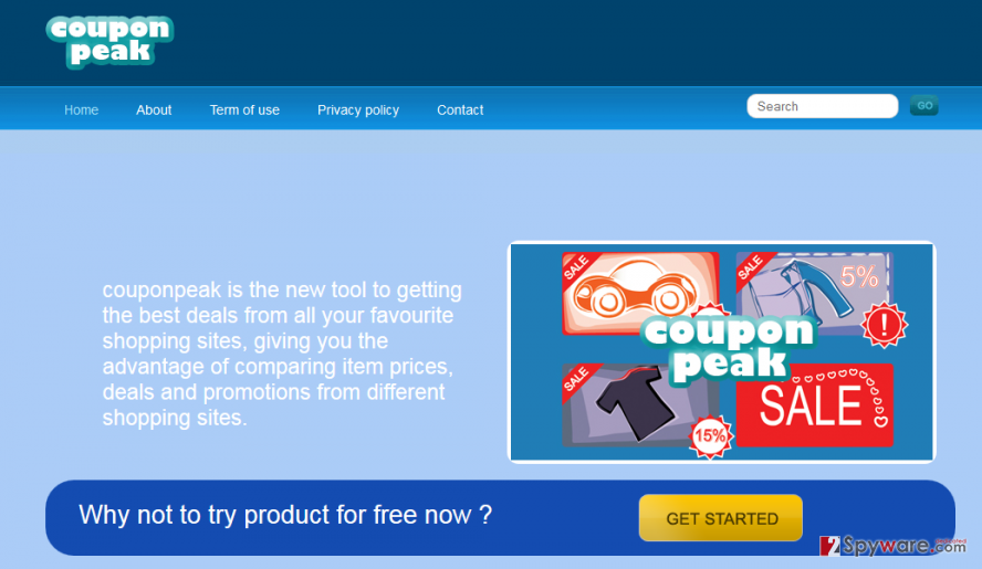 CouponPeak ads snapshot
