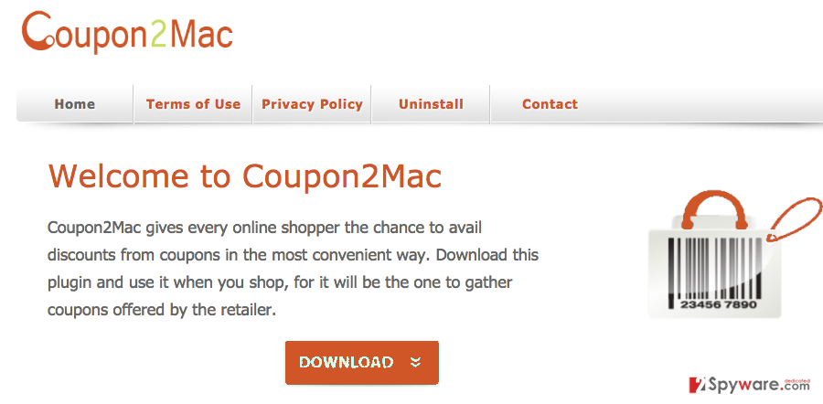 Coupon2Mac snapshot