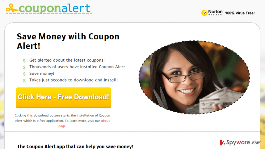 Ads by Coupon Alert snapshot