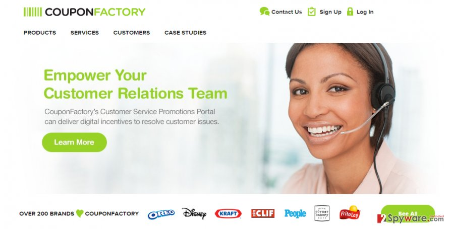 CouponFactory ads snapshot