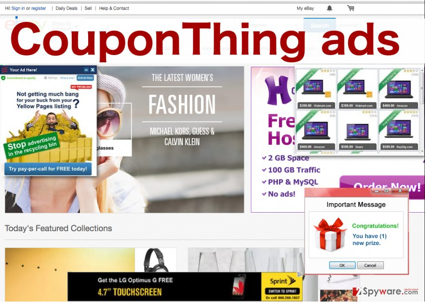 CouponThing illustration of ads