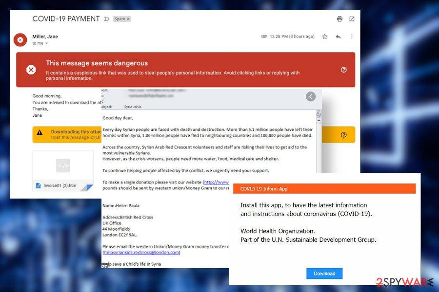Cov19 ransomware soam campaigns