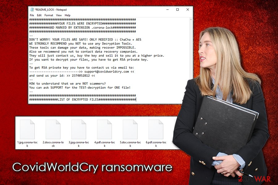CovidWorldCry ransomware virus