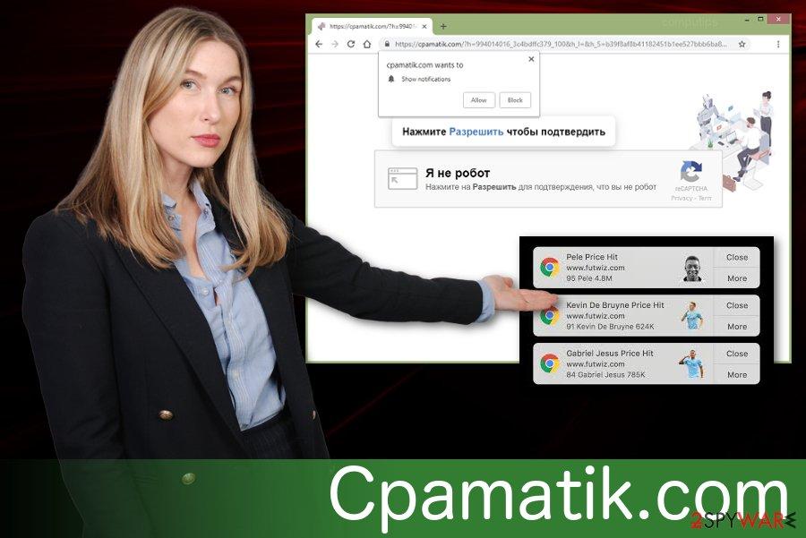 Cpamatik.com push notifications virus