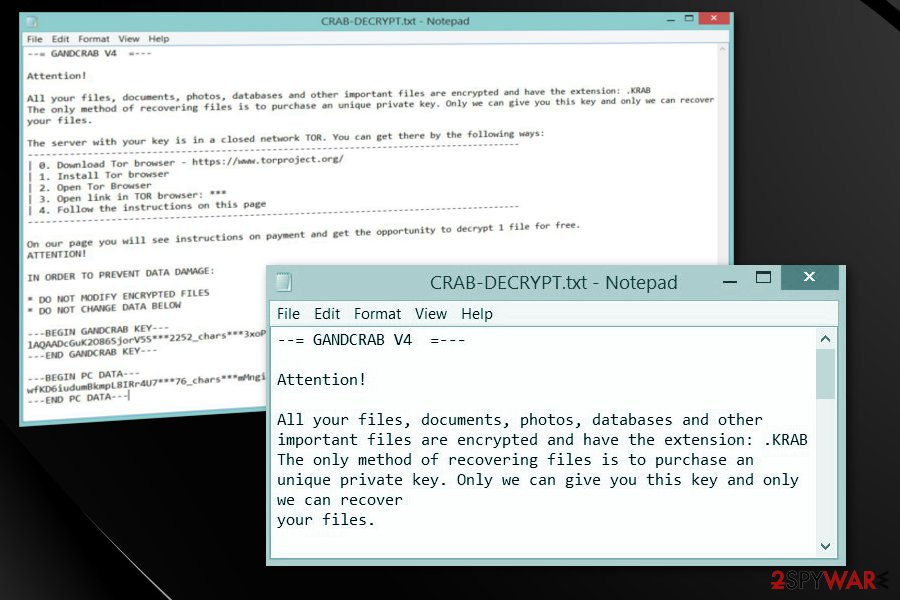 Remove  crab virus (Free Instructions) - Decryption Steps