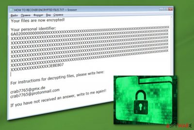crab7765@gmx.de ransomware virus