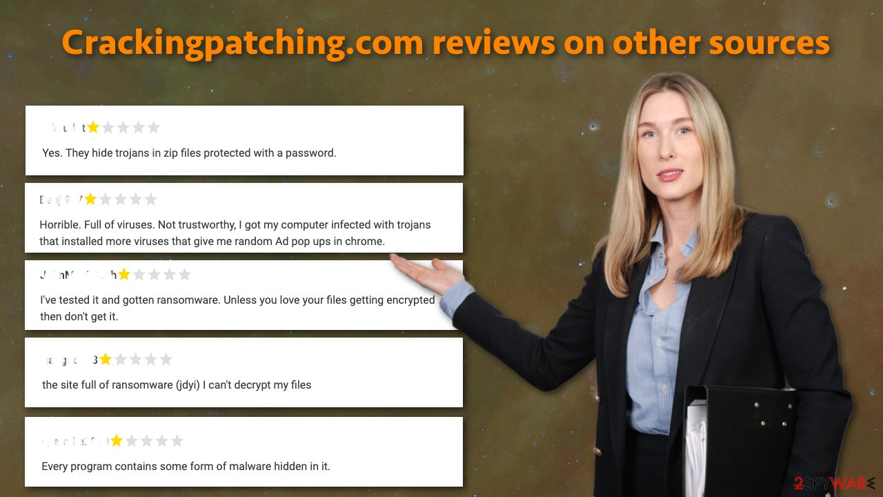 Crackingpatching.com reviews on other sources