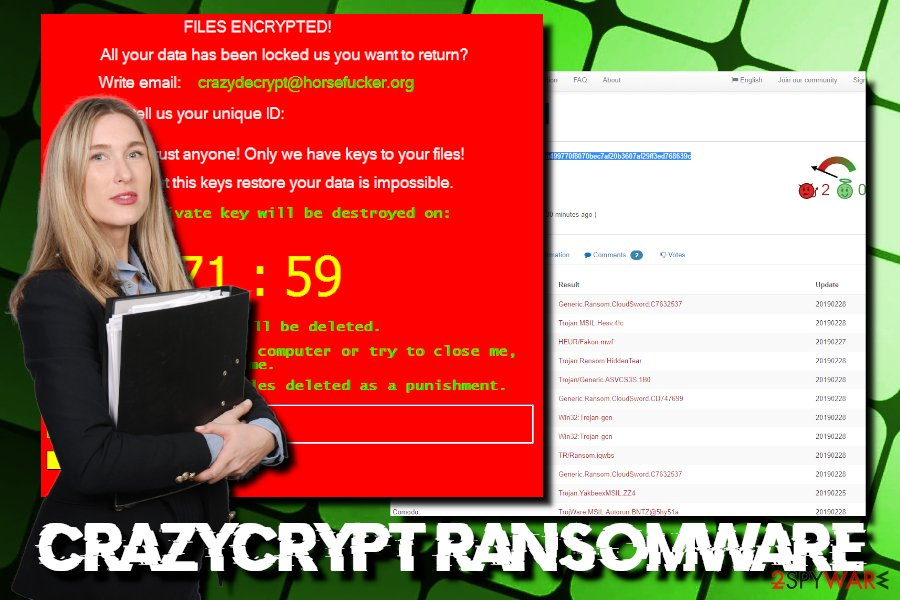 CrazyCrypt ransomware virus