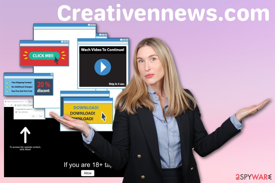 Creativennews.com push notification virus