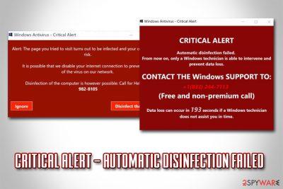 CRITICAL ALERT – Automatic disinfection failed