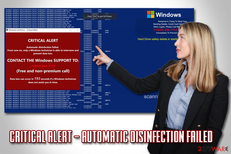 CRITICAL ALERT – Automatic disinfection failed fake alert