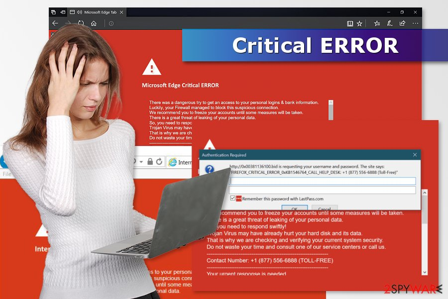 Image of Critical ERROR scam