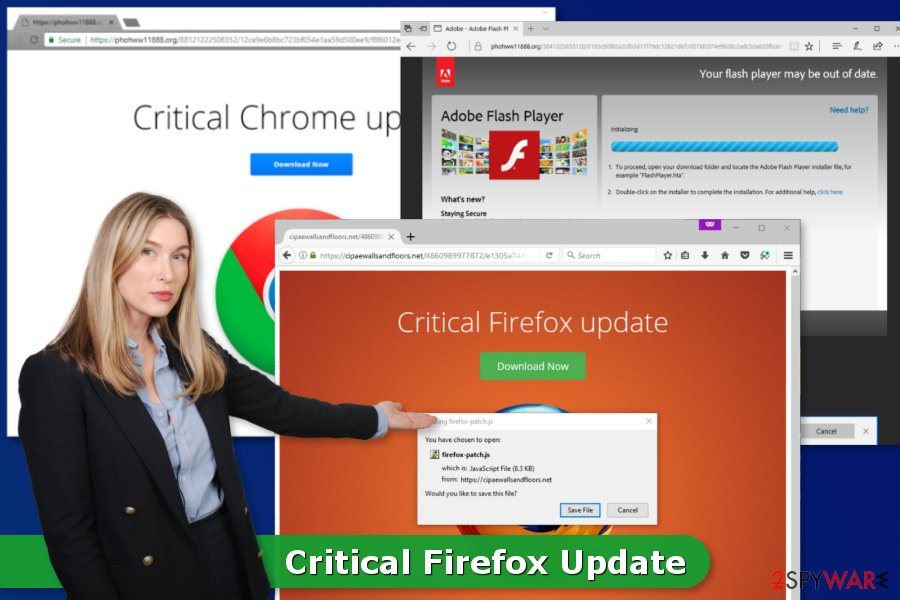 The picture of Critical Firefox Update virus