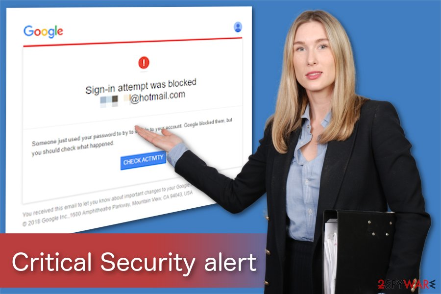Critical Security alert illustration