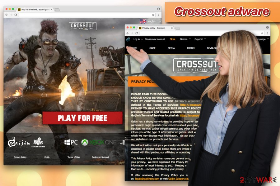 Crossout adware