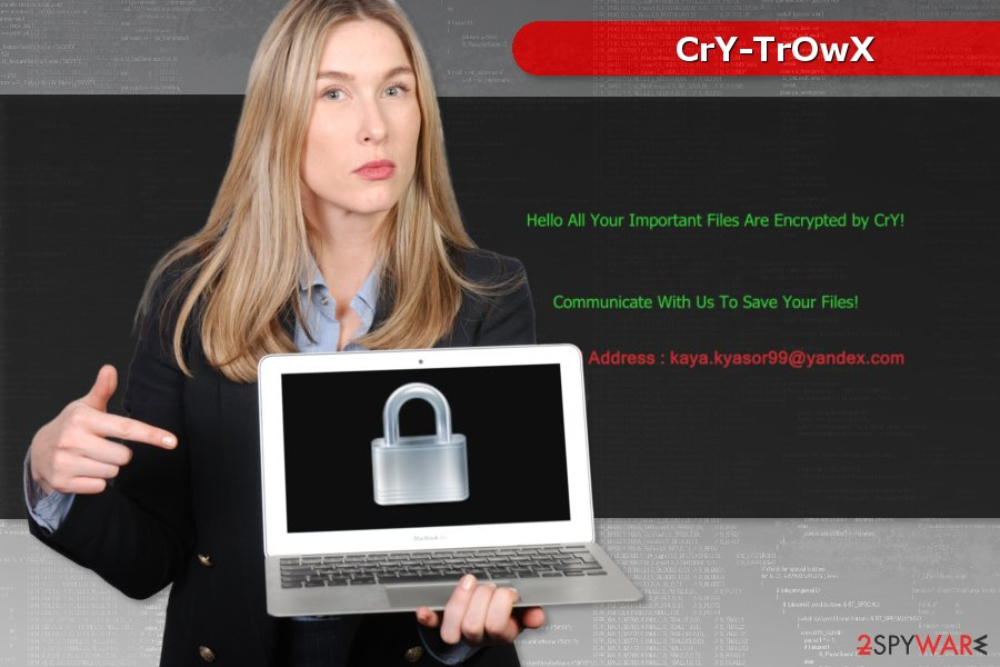 Image of CrY-TrOwX ransomware