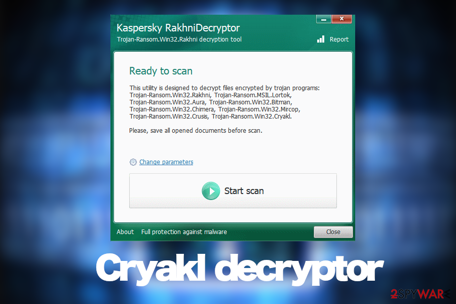Unlock files with a free decryptor