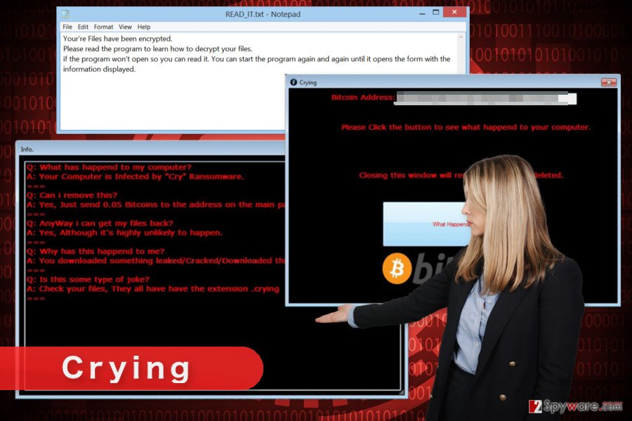 Picture of Crying ransomware virus