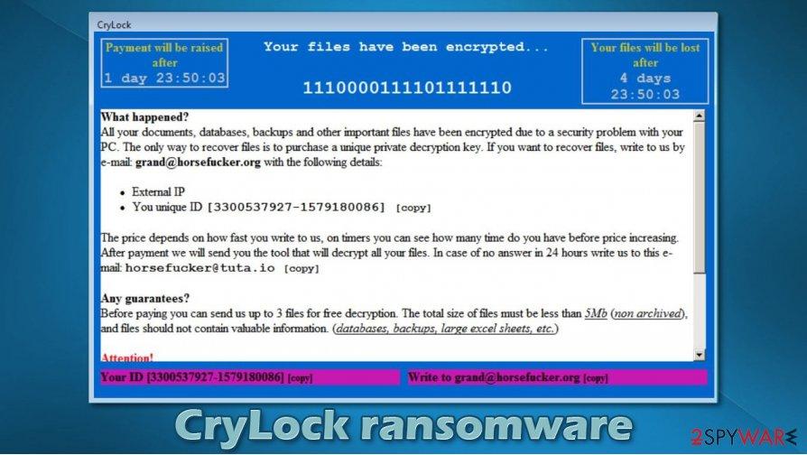 CryLock ransomware