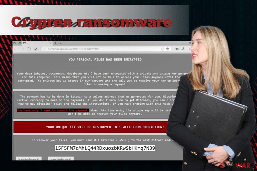 Crypren ransomware left note