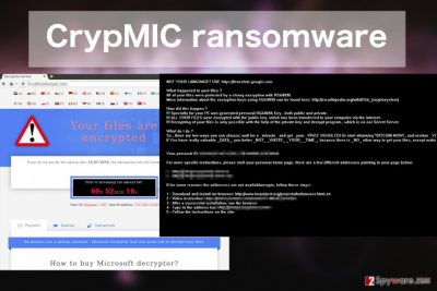 An image of the CrypMIC ransomware virus