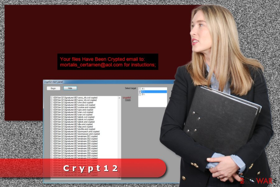 The image of Crypt12 ransomware virus