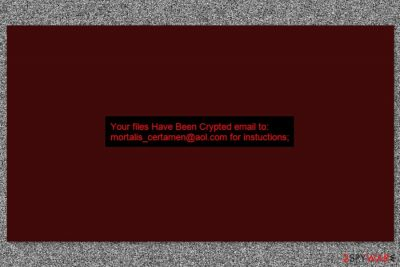 Background picture by Crypt12 ransomware