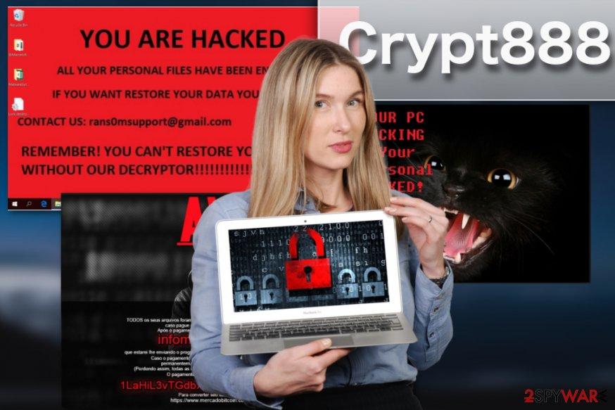 Crypt888 virus illustration