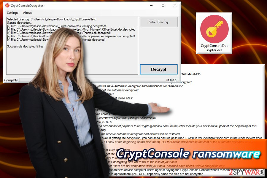 CryptConsole ransomware