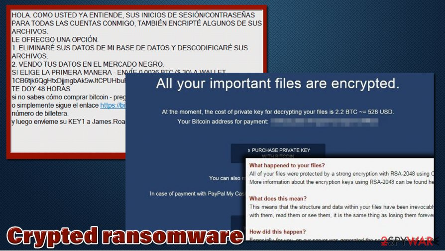 Crypted ransomware virus