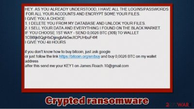 Crypted files virus