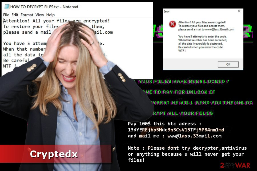 Picture of Cryptedx ransomware virus
