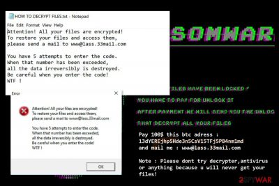 Image of Cryptedx ransomware attack