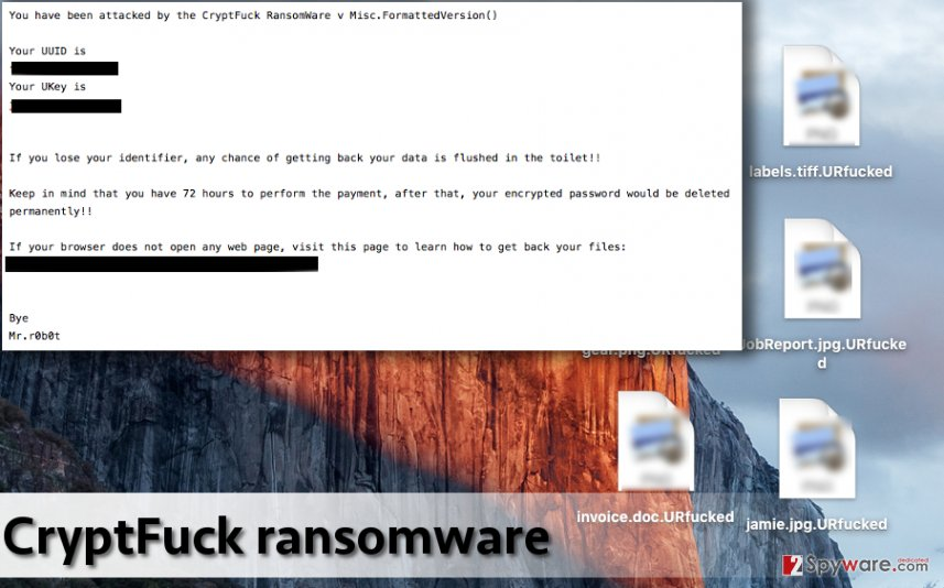 Consequences after CryptFuck ransomware attacks the computer