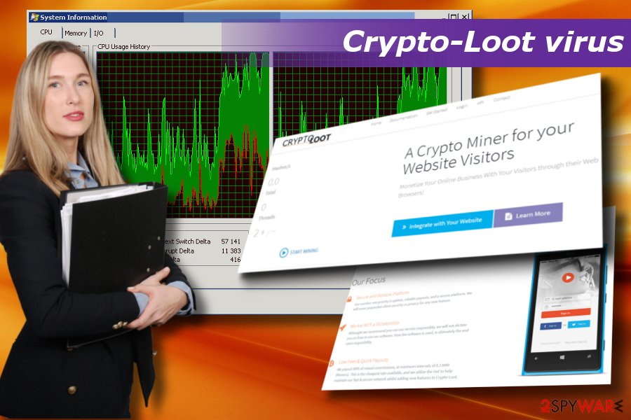 Crypto-Loot virus can result in severe system's crashes, slowdowns, and unresponsiveness