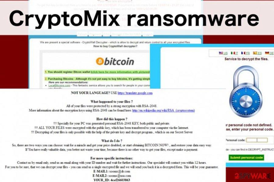 CryptoMix ransomware virus image