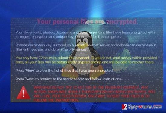 CryptoTropper virus on Linux OS