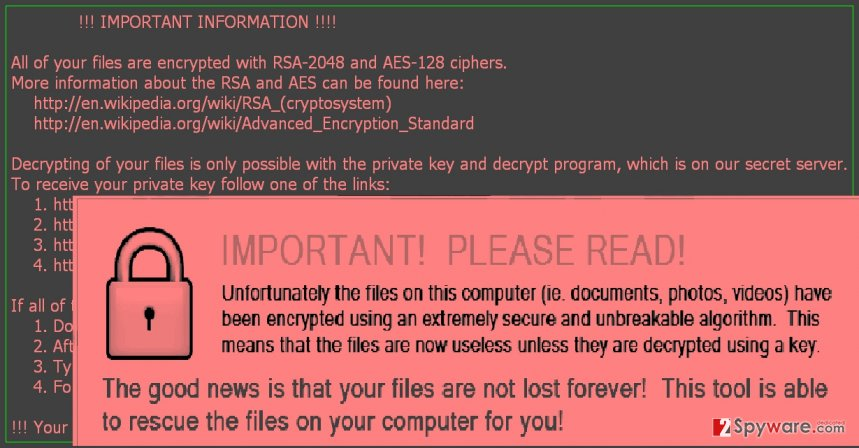 The example of CryptoBit ransomware
