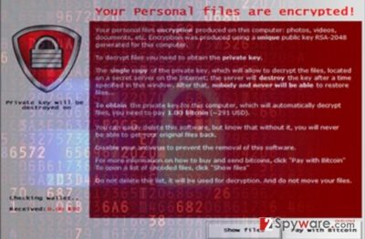 The image of CryptoBlock ransomware