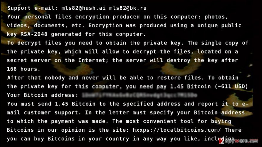CryptoCat virus presents its ransom note