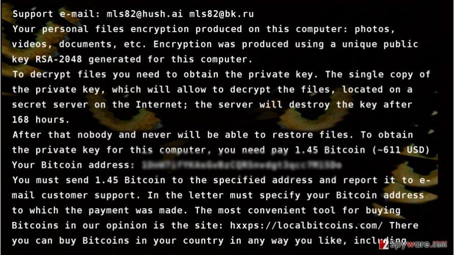 CryptoCat virus presents its ransom note