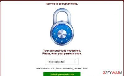 CryptoDefense virus