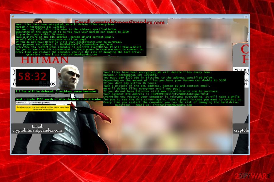 Crypto-Hitman Jigsaw ransomware version