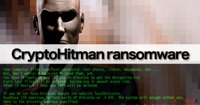 CryptoHitman malware replaces wallpaper and displays ransom note