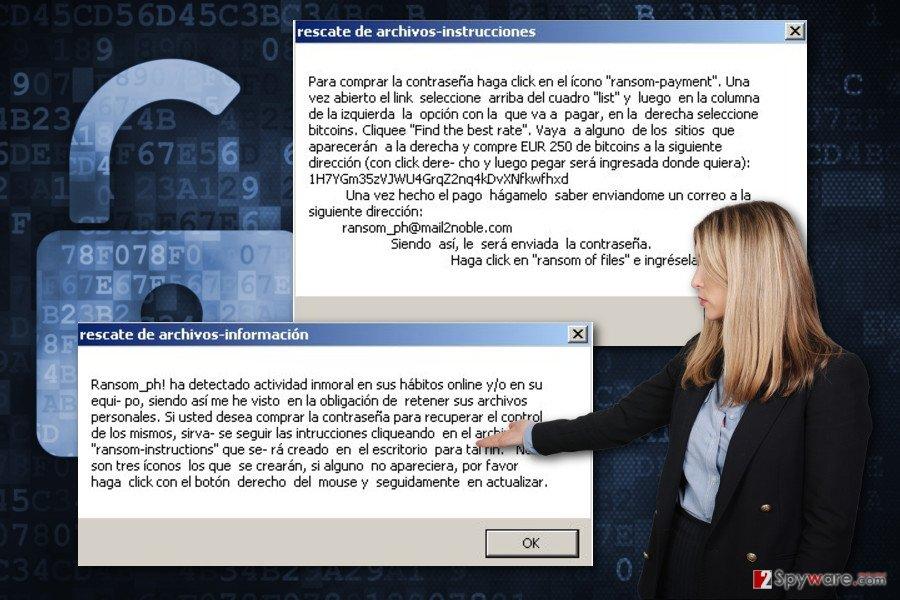 The image of CryptoJacky ransomware virus