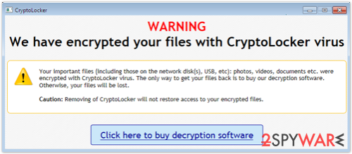CryptoLocker third version