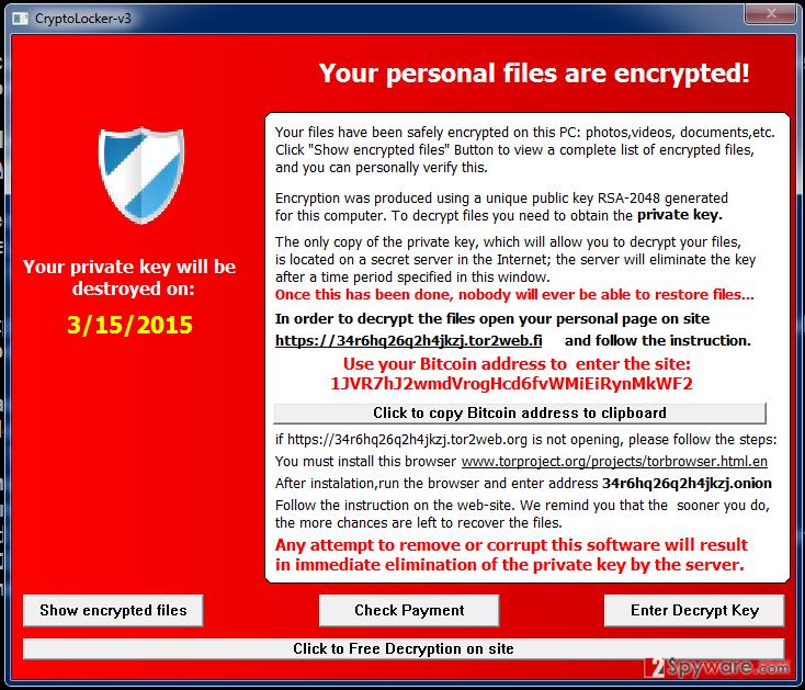 Cryptolocker-v3 ransomware
